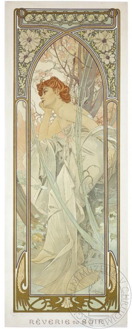 Reverie du soir by Alfons Mucha, 1899. eSbírky, CC BY