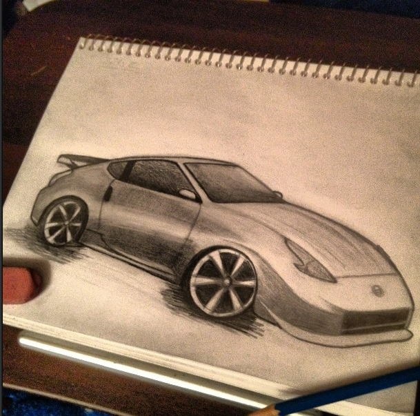 Nissan 370z Drawing