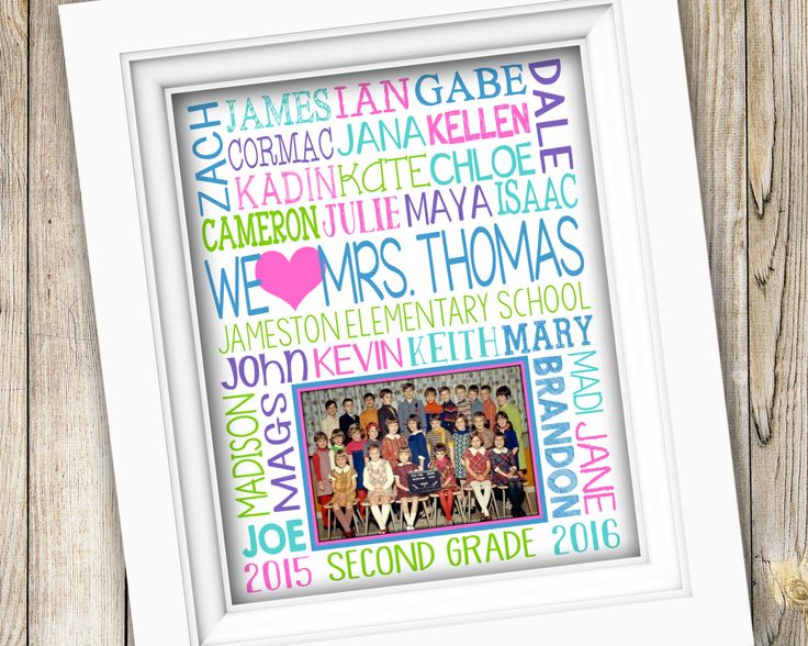 Gift for Teacher ~ Class Photo Gift ~ Teacher Appreciation Gift from Class Teacher Gift Student Names Photo Gift ~ End of Year Gift DIGITAL by SubwayStyle on Etsy