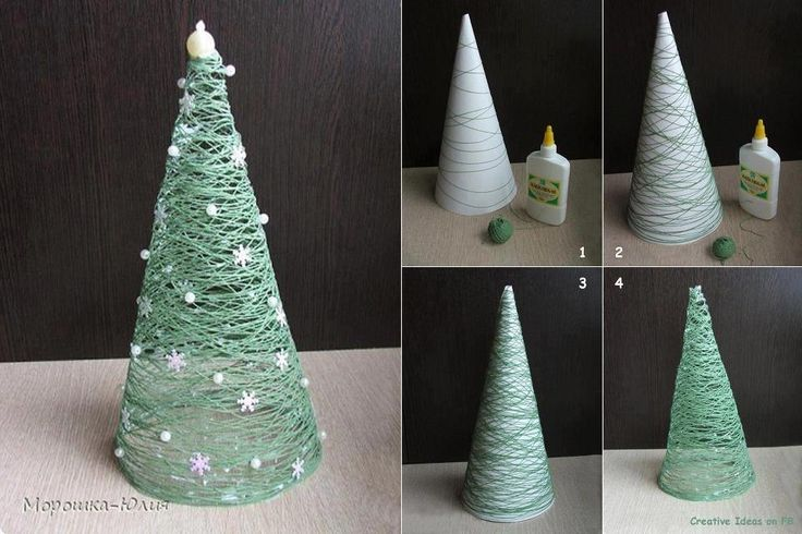 Christmas-Craft ideas-String tree