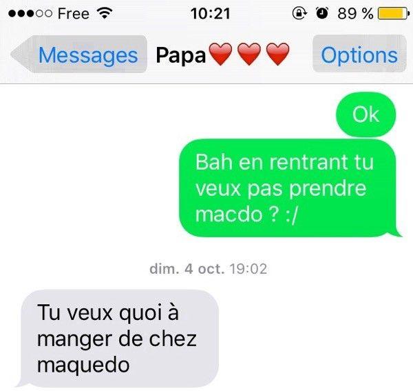 Quand mon père essaie d'écrire macdo   Mes Parents Font des SMS