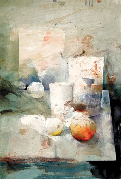 "Lars Eje Larsson/""On the Table"" 56 x 35 cm, watercolor"