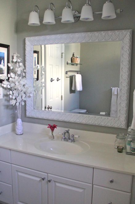 DIY Bathroom Mirror After3 Decorating Ideas Pinterest