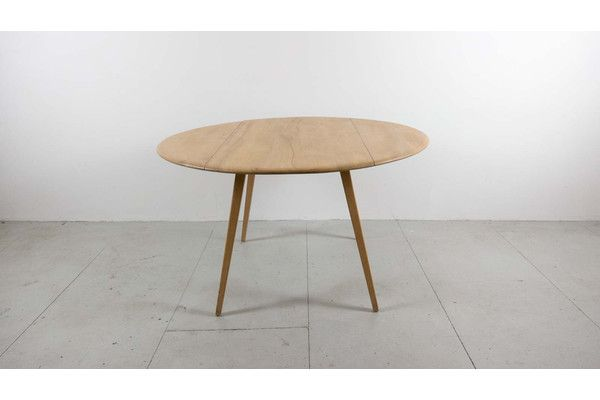 Ercol Oval Drop Leaf Table | vinterior.co