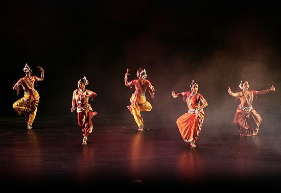 Odissi, a classical dance from Orissa, is known for its grace, fluid movements and beautiful poses.   A striking feature of the Odissi dance is that it has found extensive representation in the ornamental temple structure of Orissa. The dance form is made up of its own vocabulary of foot positions, head movements, eye movements, body positions, hand gestures, rhythmic foot work, jumps, turns and spins. All these combine to make one of the most expressive and lyrical of all classical dances.