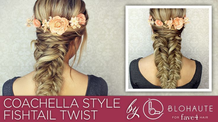 Coachella-inspired hairstyle Video Tutorial for a boho Fishtail Twist braid Hair...,  #Boho #...