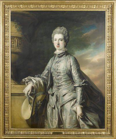 Francis Cotes (London 1726-1770) A portrait of Elizabeth Burdett, 127 x 101.8 cm. (50 x 40 1/8 in.)