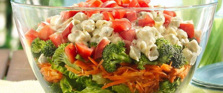 Layer, toss and serve. What could be easier for a 30-minute, simple summer salad!