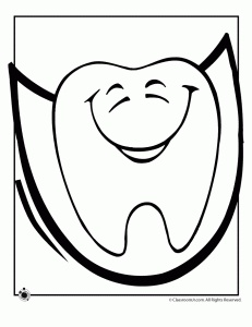 coloring pages for tongue teeth - photo#22