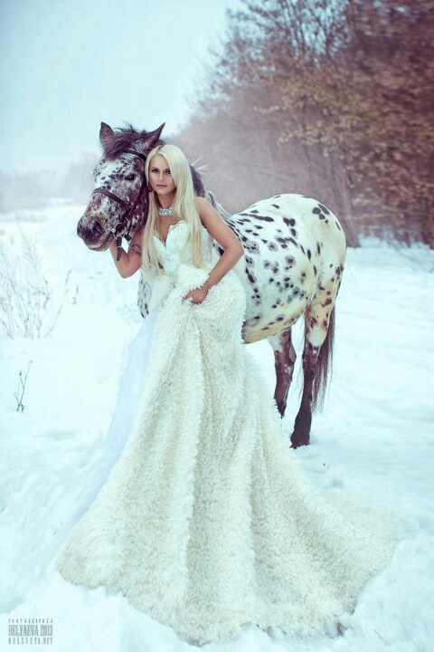 Winter wonderland - woman and horse | Winter Wonderland ...