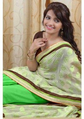 vert sari de soie, - 74,00 €, #IndienSari #EnLigneSari #SariIndienRouge #Shopkund