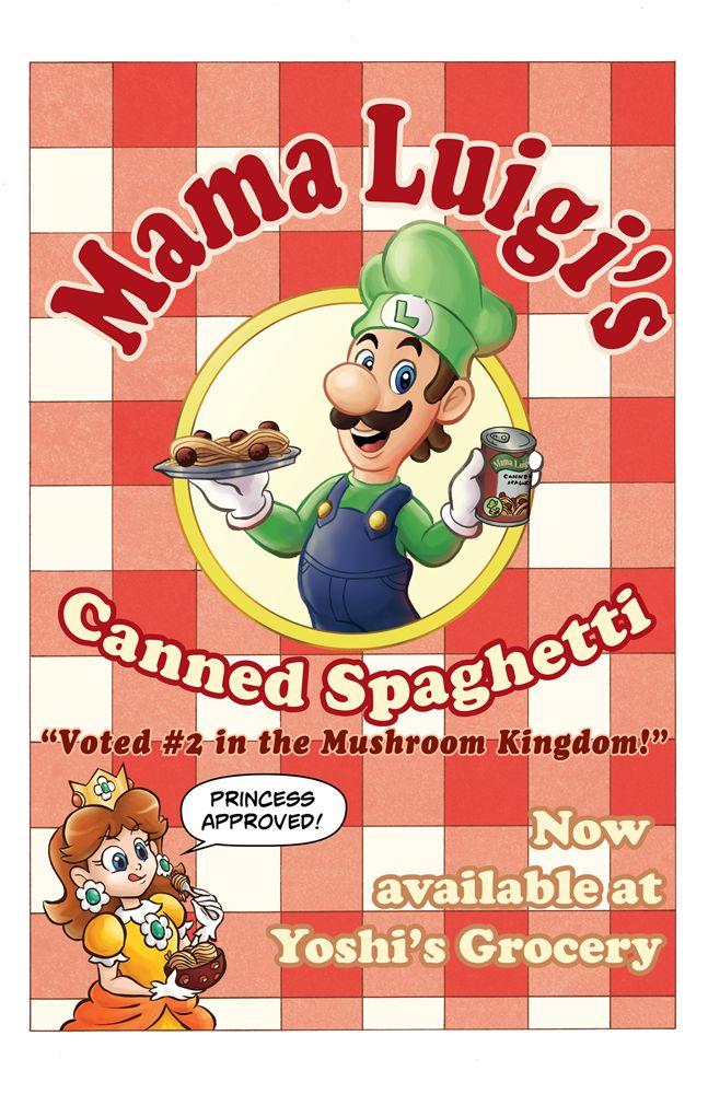 Mama Luigi's Canned Spaghetti by nessisamess.deviantart.com on @deviantART
