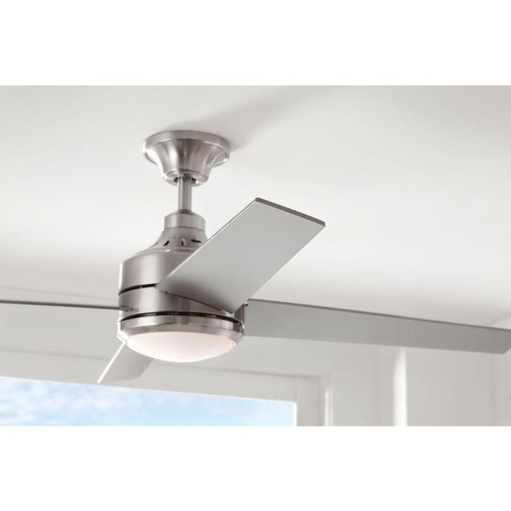 Home Decorators Collection Mercer 52 in. Brushed Nickel Ceiling Fan-14725 - The Home Depot