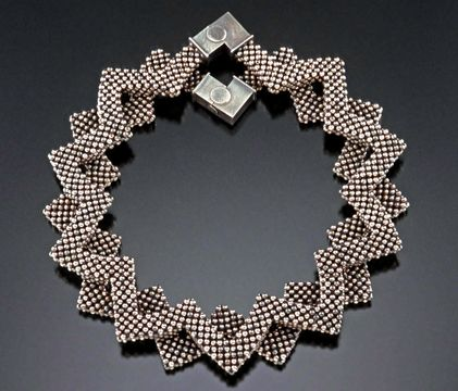 Right angle weave beadwoven necklace by Valerie Hector