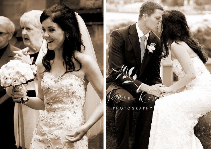 Ash & Rob @ Jessie Rose Photography#wedding #photography #springwedding #weddingphotography #jessierosephotography #bride #groom #sydney #kiss #australia #observatoryhill #springwedding #spring #laughter #kiss #sepia