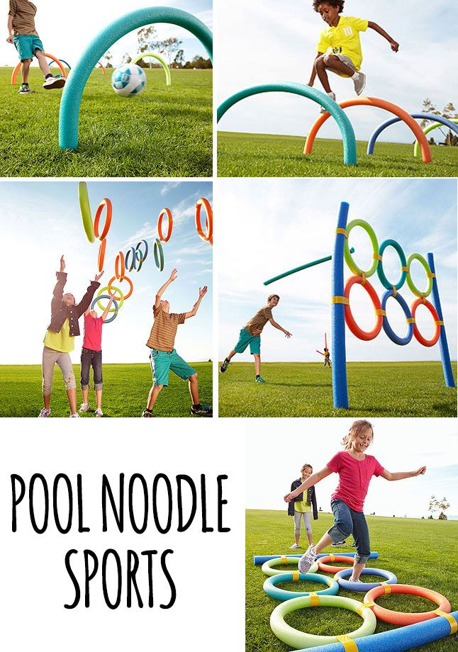 Pool noodles have really been some of our best outdoor toys. Love these ideas. And dollar store carries noodles for .... a dollar!