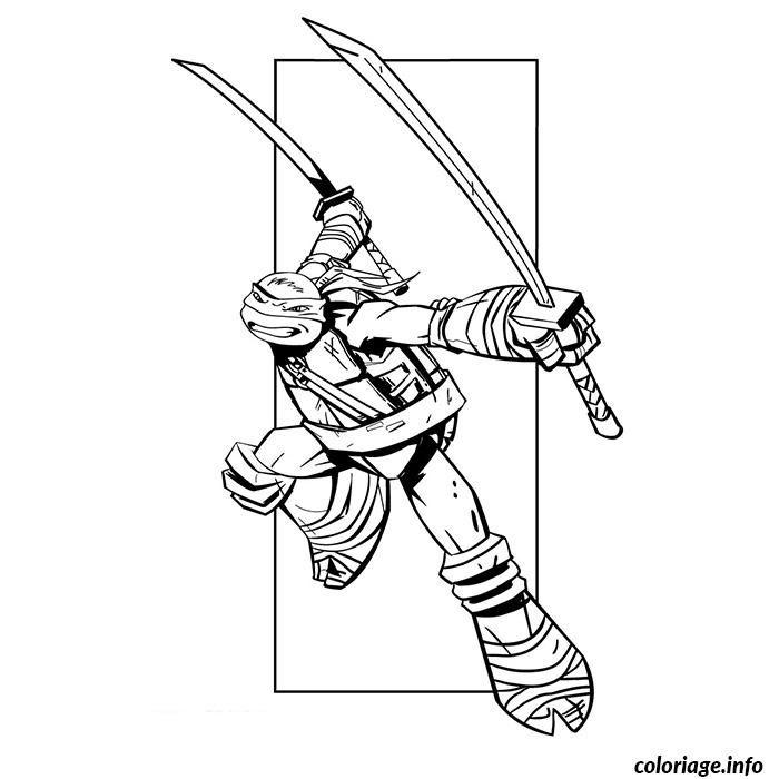 Tortues Ninjas Leonardo Coloriage