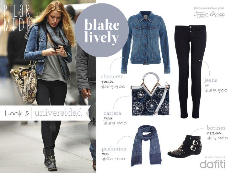 Look Blake Lively- Universidad