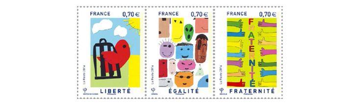 Dévoilement des timbres « Liberté, Égalité, Fraternité » dessinés par la jeunesse - Ministère de l'Éducation nationale, de l'Enseignement supérieur et de la Recherche