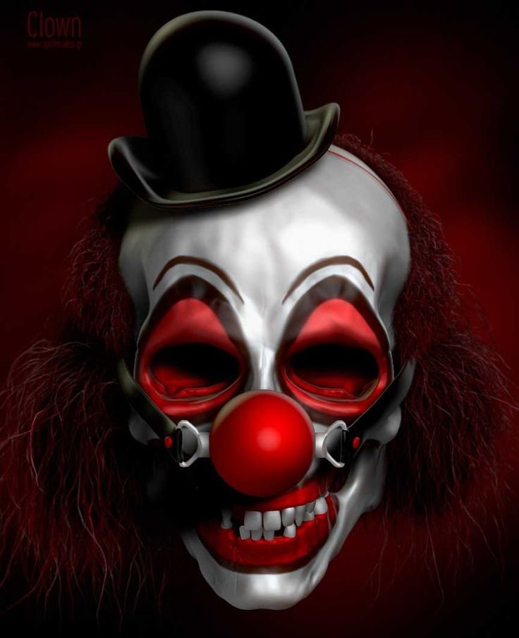 Images For > Scary Clown Face Gif