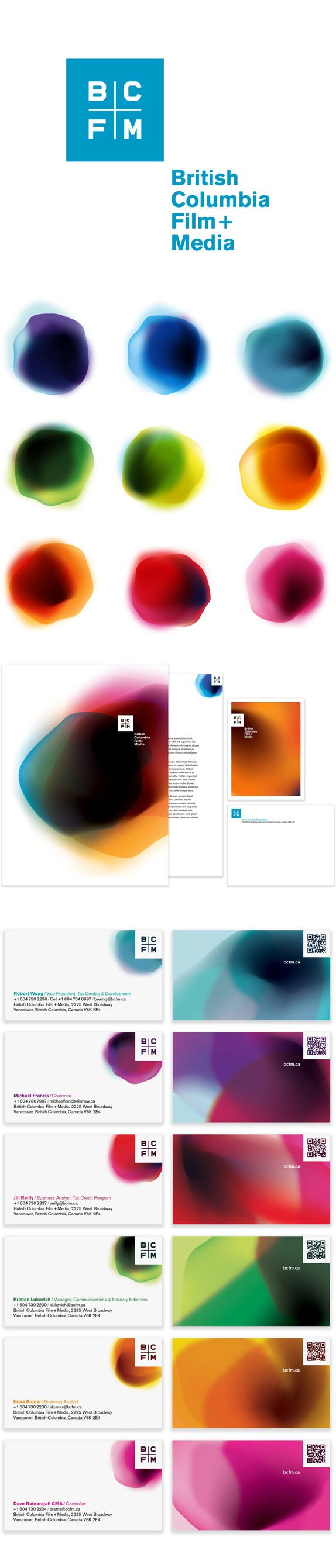 Remember when logos were one color? Maybe two? This identity for BC Film + Media breaks all the rules and blurs the lines.