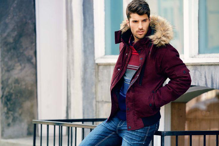 Blouson de nylon brossé pour hommes - Vincent d'Amérique.