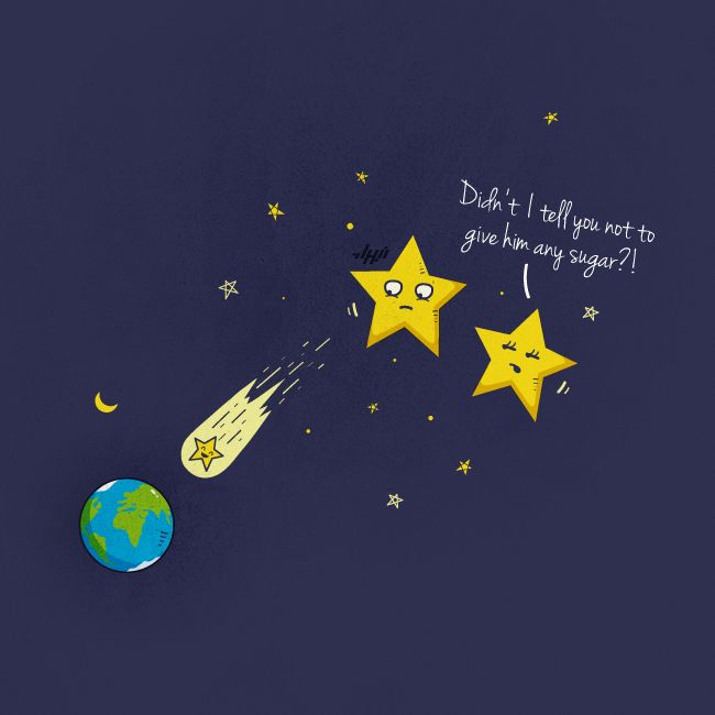 Yep, this is why we sometimes see shooting stars in the sky!    Shooting Star by NaBHaN.deviantart.com