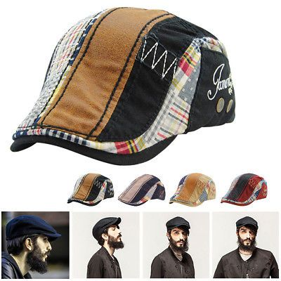 Fashion Women Men Beret Hat Flat Caps Newsboy Outdoor Sports Cotton Sun Cap