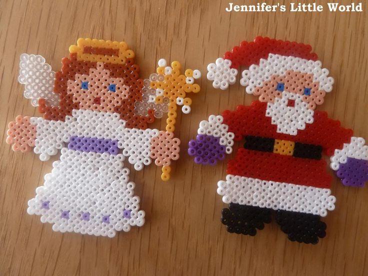 Mini Hama beads Christmas decorations