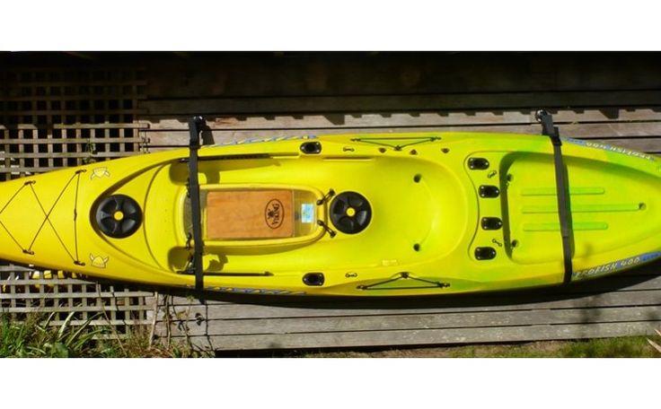 Kayak trolley carrying a kayak. http://www.vikingkayaks.co.nz/