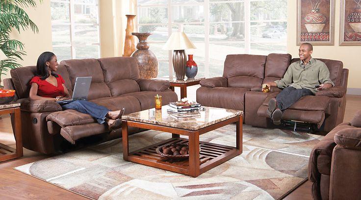 Cindy Crawford Home Van Buren Brown 3 Pc Reclining Living Room from Furniture