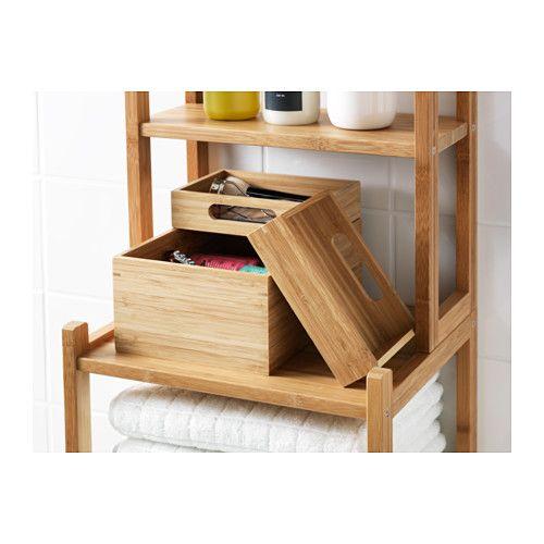 DRAGAN Boks, sett m 3 stk. IKEA Bambus er et slitesterkt naturmateriale. Perfekt til smykker og hårspenner.