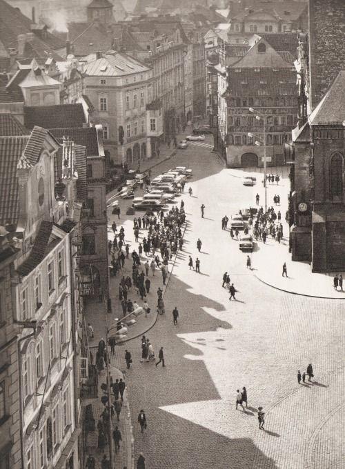 Prague, Old Market Square by B.Landisch, 60's