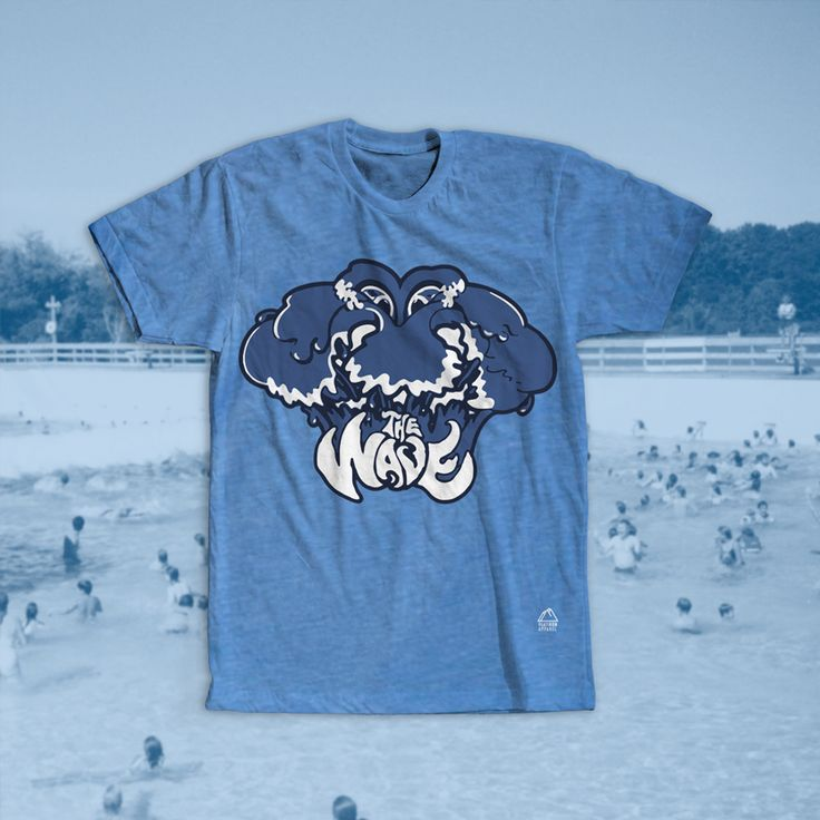 The Wave Geauga Lake T-Shirt. The Wave was a classic attraction at Geauga Lake - a now permanently closed amusement park in Aurora, Ohio. The opening date of the pool was in 1984 and was a main attraction of the water park until its closing in 1999. It was a giant wave pool that sent out large timed waves across the water for swimmers to enjoy. After years at Geauga Lake, Six Flags, and Wild Water Kingdom The Wave was shut down. How sad!  #geaugalake