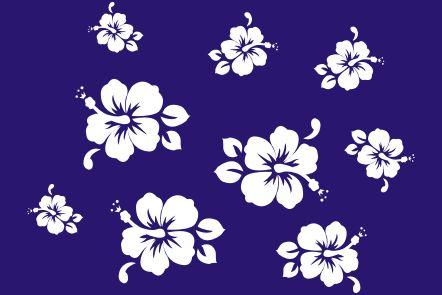 декоративный трафарет Гавайские цветы