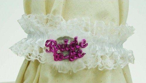 White Garter - Flashing 'Bride to Be'
