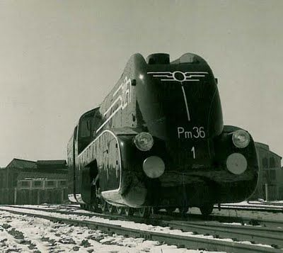 Pm36-1 locomotive (1936) with a streamlined fairing designed at the Warsaw University of Technology