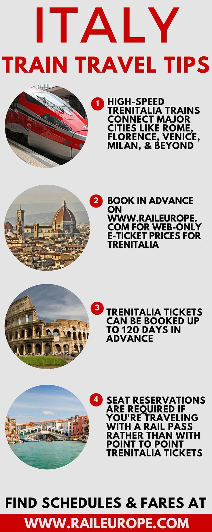 #Italy Train Travel Tips from Rail Europe, the European train travel experts! Some helpful tips if you want to ride the trains in Italy.