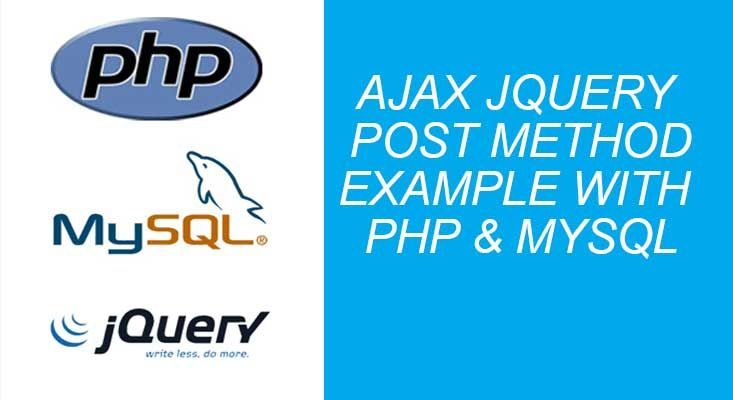 ajax jquery post example with php