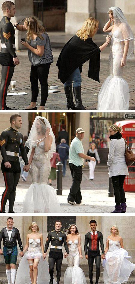 12 of the Most Bizarre Wedding Dresses - Oddee.com (funny wedding dresses, strange wedding dresses)