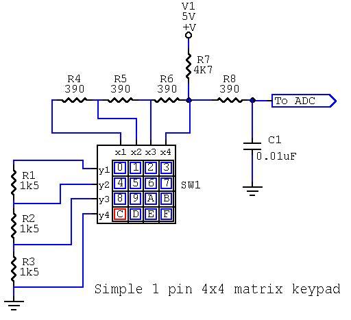 Arduino keypad with 1 Analog pin