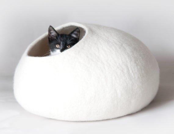modern pet furniture pet house natural wool felted Cat bed cat cocoon Designer pet bed +gift-mat igloo cat cave bed pet teepee ECO