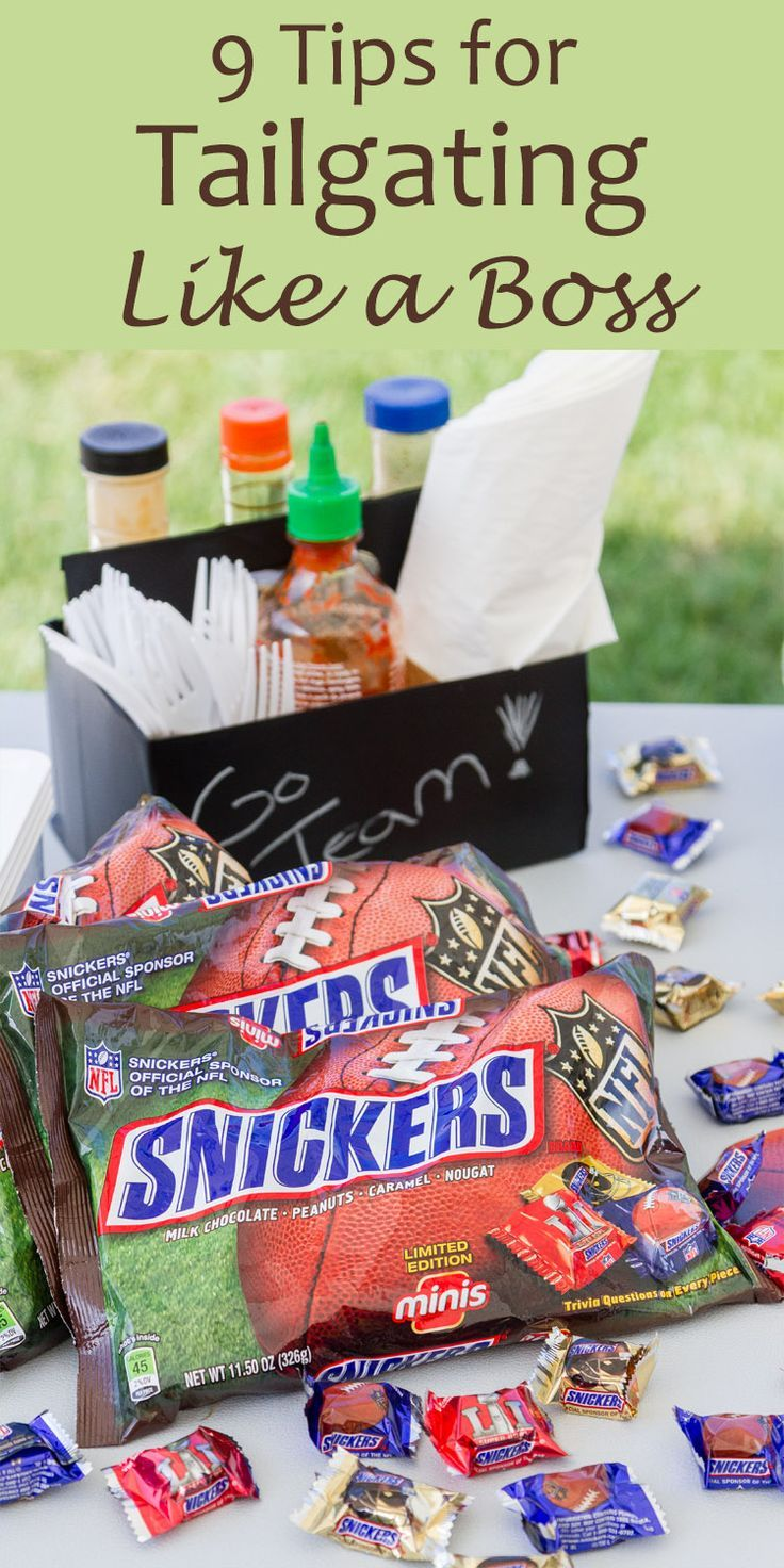 9 Tips for Tailgating Like A Boss with Snickers NFL Minis #ad You're going to be the MVP of the tailgate party!
