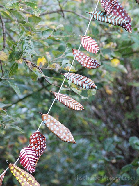 Alisa Burke - garland of painted dried eaves