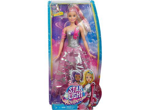 BARBIE Seikkailee avaruudessa -nukke, jolla hame