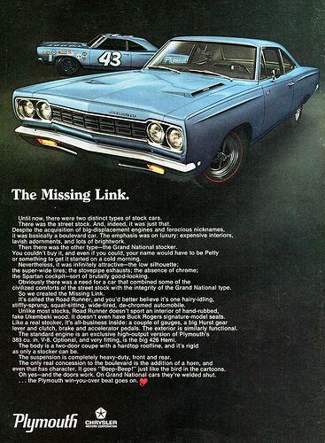 1968 Chrysler Plymouth Road Runner Advertising Road & Track June 1968