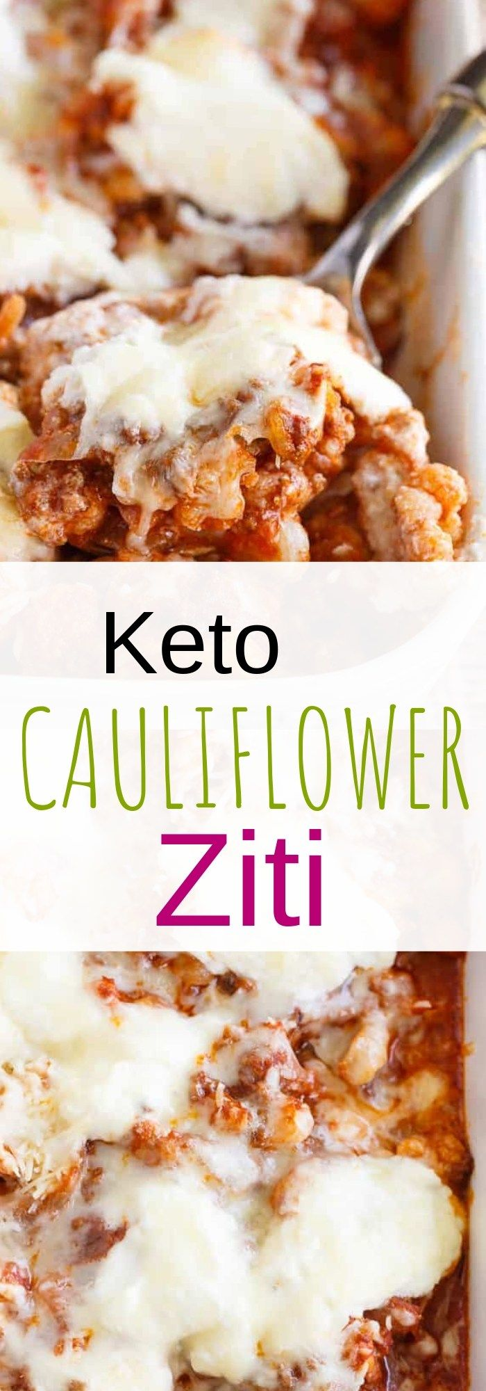 Keto Cauliflower Ziti Keto cauliflower, Keto recipes