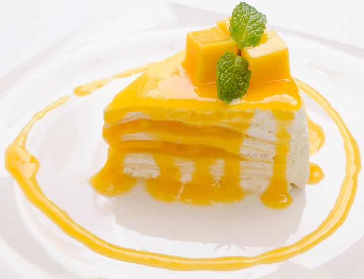 Mango Crepe Cake for your sweet tooth! #Greyhound #dessert