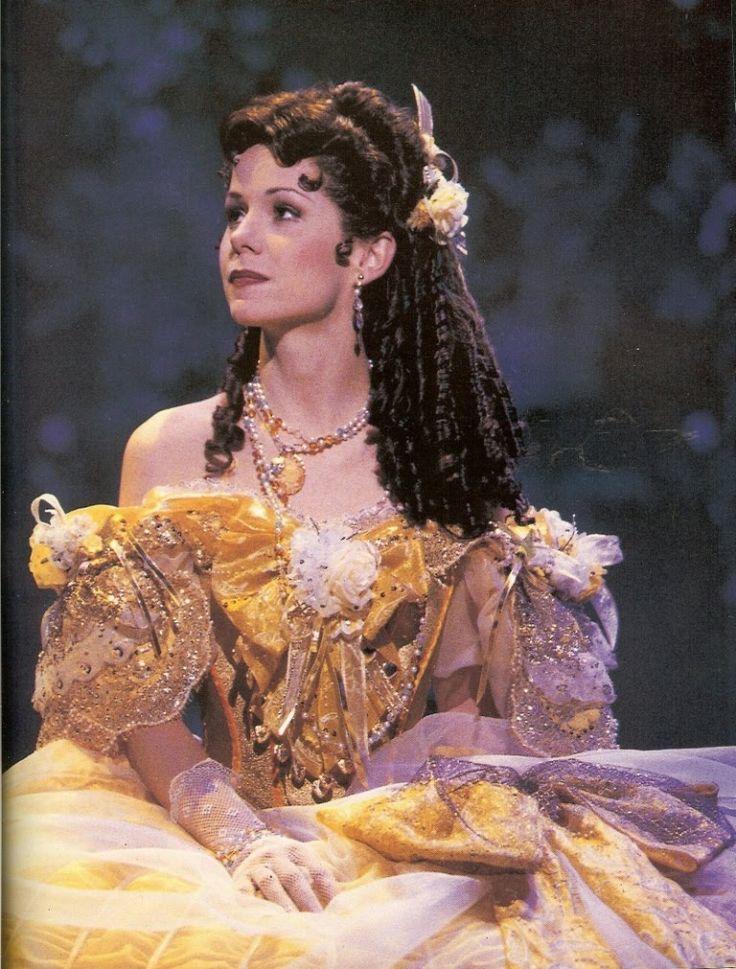 Belle in her ballgown on Broadway