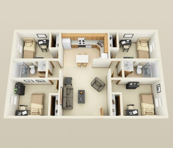 52 best floor plans 4bhk images on pinterest floor plans this apartment from first site apartments proves that you do not need a lot of space malvernweather Images